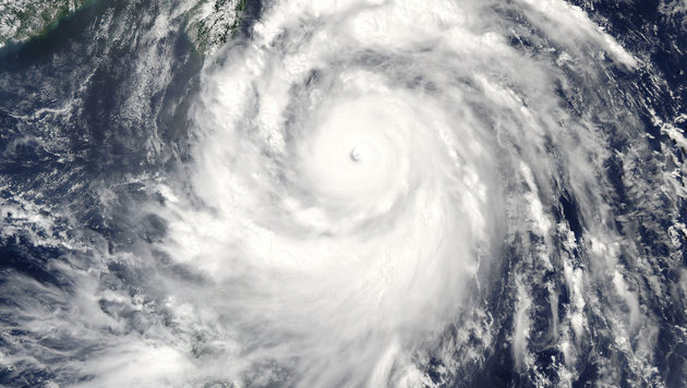 "Eine Satellitenaufnahme des Taifuns ""Meranti"" (Bild: NASA)"