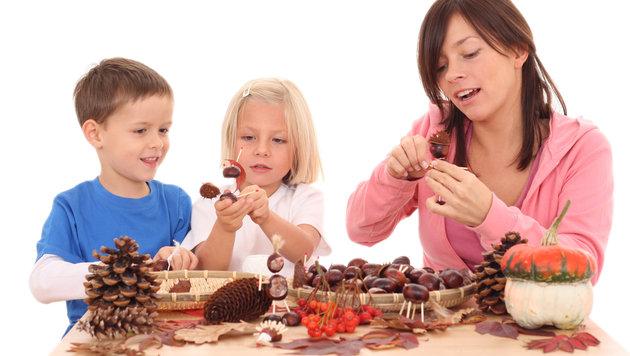 Tolle Bastelideen f�r Kinder im Herbst (Bild: thinkstockphotos.de)