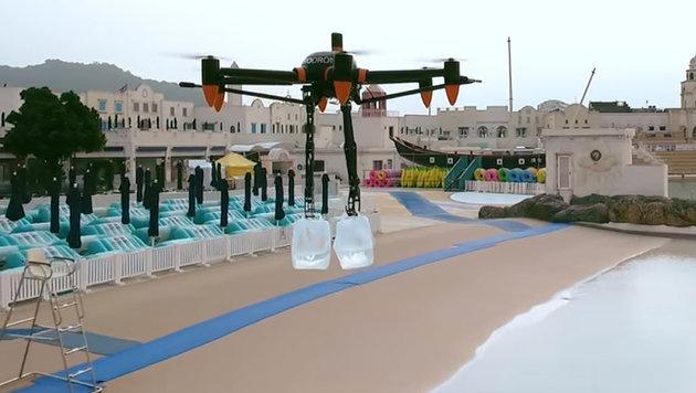 Zwei Greifarme: Diese Drohne kann sogar aufräumen (Bild: YouTube.com/ProDrone)