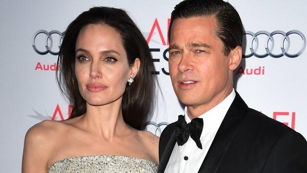 Angelina Jolie und Brad Pitt (Bild: AFP)