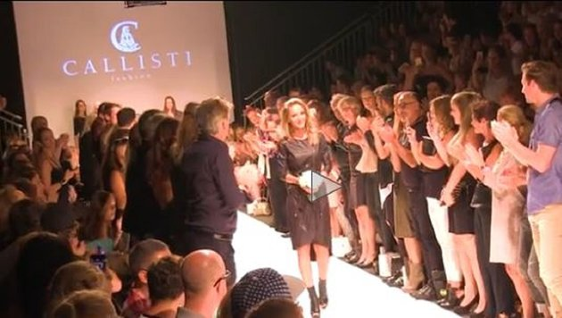 """Callisti - der Star der Fashion-Week (Bild: Krone TV)"""
