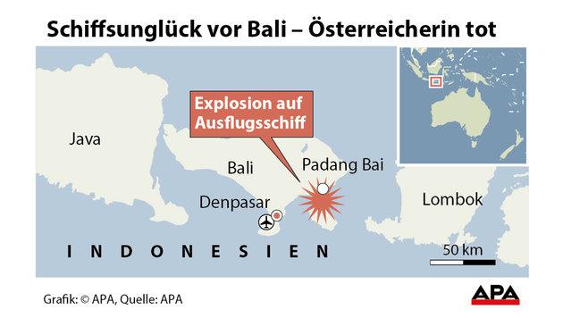 Explosion auf Ausflugsschiff: Österreicherin tot (Bild: APA Grafik)