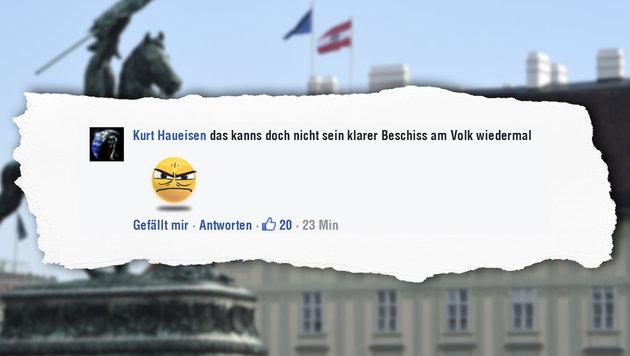 Van der Bellen schon als Präsident in Schulbuch (Bild: APA/HELMUT FOHRINGER, facebook.com)