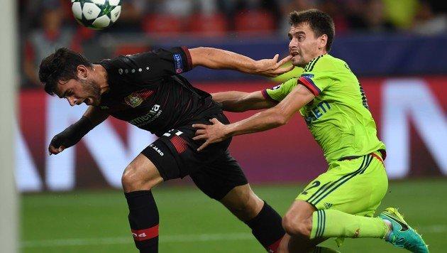 Bayer Leverkusen kam gegen ZSKA Moskau nicht nur einmal ins Straucheln. (Bild: AFP)