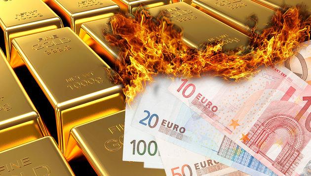 Angst vor totaler Krise: Experten wollen Gold-Euro (Bild: thinkstockphotos.de)