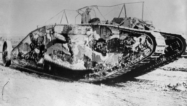 """Vor 100 Jahren begann das Zeitalter der Panzer (Bild: United States Library of Congress""""s Prints and Photographs)"""