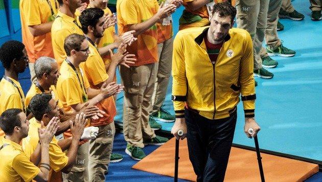 2,46 Meter groß! Iraner sorgt in Rio für Staunen (Bild: AFP)