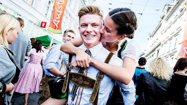 Auf zum Aufsteirern! In Graz regiert die Tracht (Bild: aufsteirern.at)