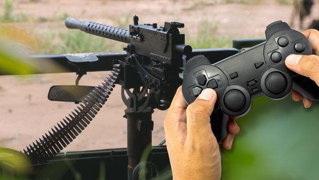 Syrische K�mpfer steuern MG mit PS2-Controller (Bild: thinkstockphotos.de)