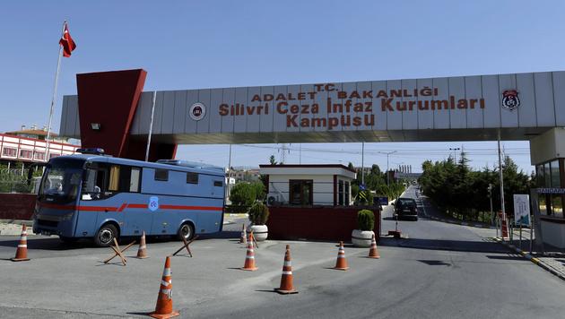 Das Hochsicherheitsgef�ngnis Silivri vor den Toren Istanbuls (Bild: Associated Press)