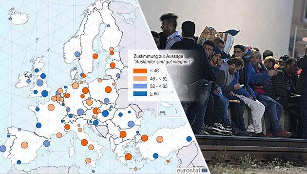 Wien: Schlechter Wert für die Ausländer-Politik (Bild: theguardian.com, AFP)