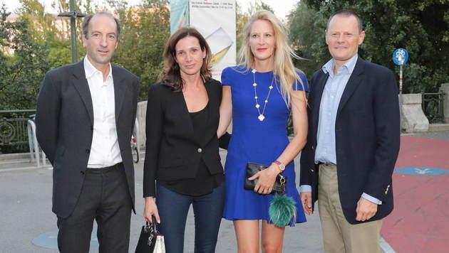 """""""Krone""""-Herausgeber Christoph Dichand, Caroline Mautner-Markhof, Eva Dichand und Martin Böhm (Bild: Starpix/Alexander TUMA)"""