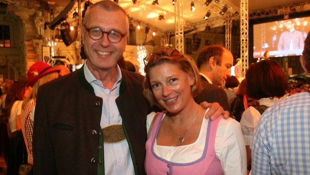"""""""Krone""""-Steiermark-Chefredakteur Christoph Biró mit seiner Susi (Bild: Sepp Pail)"""
