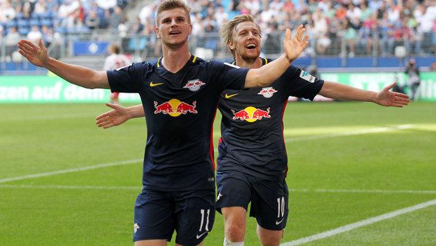 "Leipziger ""Bullen"" deklassieren HSV auswärts 4:0! (Bild: GEPA)"