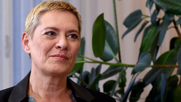 Grünen-Spitzenkandidatin Uschi Lichtenegger ist die neue Bezirksvorsteherin in der Leopoldstadt. (Bild: APA/HERBERT P. OCZERET)