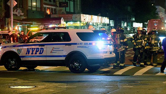 USA unter Schock: Terror mitten in New York (Bild: APA/AFP/Jamie McCarthy)
