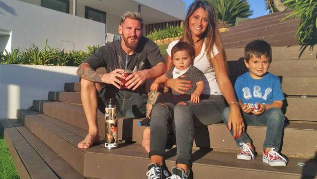 Nur kein Stress! Familie Messi geht's ganz entspannt an. (Bild: Instagram)