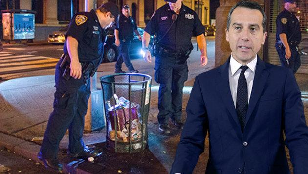 Terror-Ausnahmezustand bei Kerns New-York-Gipfel (Bild: AP, APA)