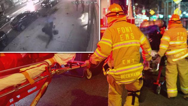 USA unter Schock: Terror mitten in New York (Bild: twitter.com, APA/AFP/Bryan R. Smith)