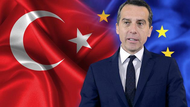 Verhandlungen mit der Türkei: Kern korrigiert sich (Bild: APA, thinkstockphotos.de)