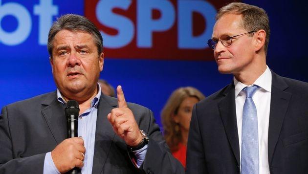 SPD-Chef Sigmar Gabriel (l.) (Bild: AFP)