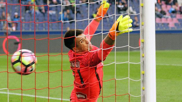 Austrias unglücklicher Goalie Hadzikic (Bild: APA/KRUGFOTO)
