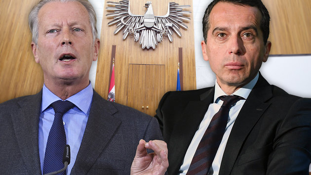 Regierung schlittert vollends ins Chaos! (Bild: APA/GEORG HOCHMUTH, APA/HELMUT FOHRINGER)