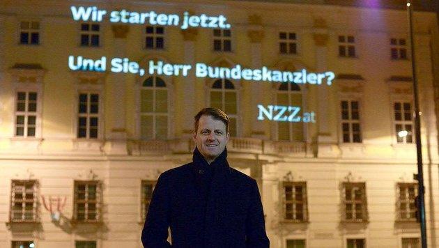 Michael Fleischhacker beim Start von NZZ.at im Jänner 2015 (Bild: APA/BRAINWORKER/DANIEL SHAKED)