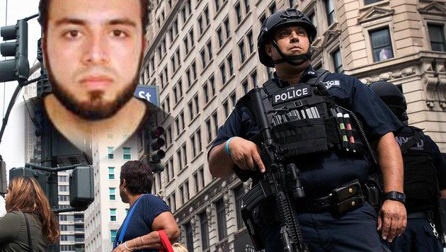 Ahmad Khan Rahami wird in Zusammenhang mit den Explosionen gebracht. (Bild: APA/AFP/Getty Images/Drew Angerer, twitter.com/NYPDnews)