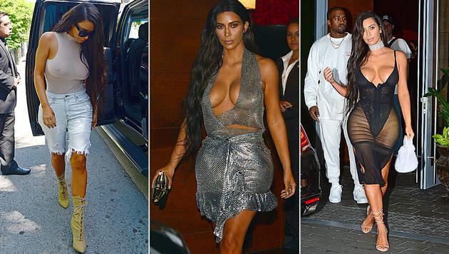 Kim Kardashian ist momentan nicht wirklich stilsicher unterwegs. (Bild: Viennareport)