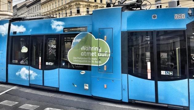 """""""Aufregung um """"Parkpickerl""""-Straßenbahn in Währing (Bild: zet)"""""""