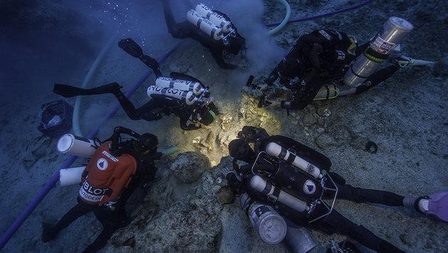 2000 Jahre altes Skelett in Schiffswrack entdeckt (Bild: EUA/WHOI/ARGO/Brett Seymour)