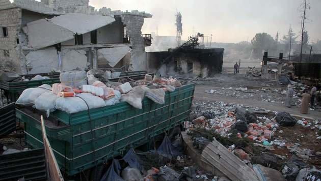 UNO stellt alle Hilfslieferungen nach Syrien ein (Bild: AFP or licensors)