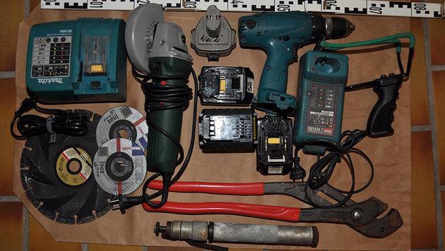 Werkzeug, das bei den Einbrüchen benutzt wurde (Bild: LPD Salzburg)