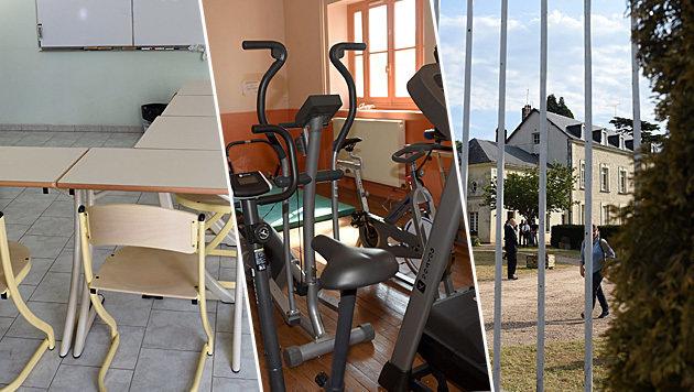 Mit Unterricht und viel Sport sollen Dschihadisten in der Einrichtung deradikalisiert werden. (Bild: APA/AFP/GUILLAUME SOUVANT)
