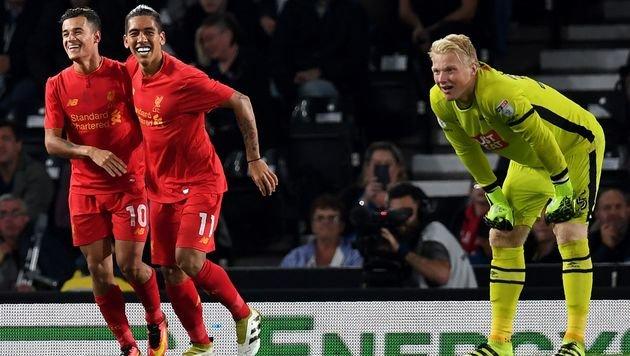 Liverpool und Arsenal im Liga-Cup sicher weiter (Bild: APA/AFP/PAUL ELLIS)