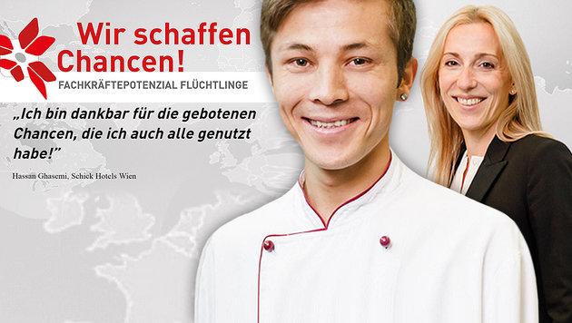 """Mit Sujets von erfolgreichen Vermittlungen wirbt die WKO f�r das Projekt """"Fachkr�ftepotenzial"""". (Bild: wko.at)"""