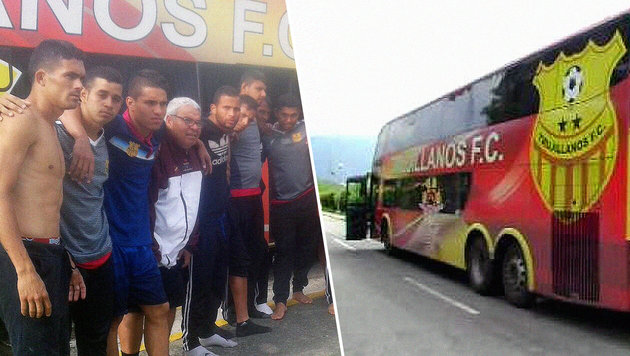 Schock! Fußballteam in Venezuela ausgeraubt (Bild: Twitter.com)