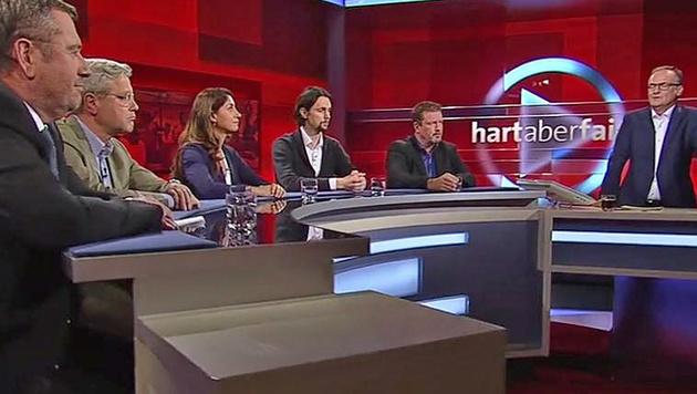 "Die ARD-Sendung ""Hart aber fair"" (Bild: Screenshot/ARD)"
