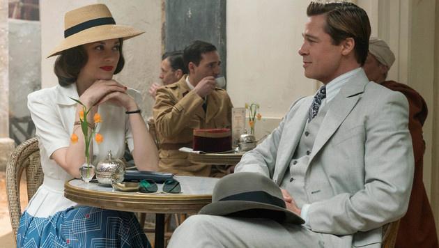 """Brad Pitt und Marion Cotillard spielen gemeinsam in """"Allied"""". (Bild: Viennareport)"""