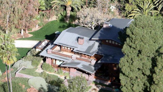 Die Hollywoodresidenz der Jolie-Pitts in den Hügeln von Los Angeles. (Bild: Viennareport)