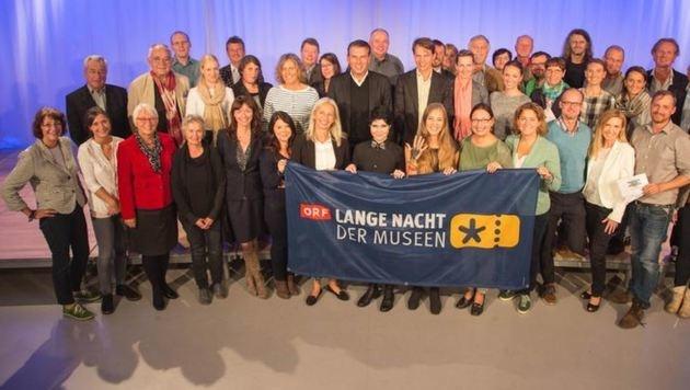 """Das aktuelle """"Familienfoto der Salzburger Museumsklasse 2016"""" (Bild: Franz Neumayr/MMV)"""
