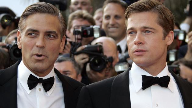 George Clooney und Brad Pitt verbindet eine langjährige Freundschaft. (Bild: FRANCOIS GUILLOT/AFP/picturedesk.com)