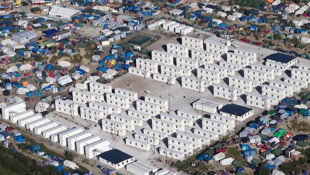 """Das Flüchtlingslager """"Dschungel"""" in Calais (Bild: Associated Press)"""