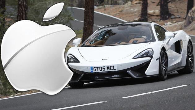 Apple will sich angeblich McLaren einverleiben (Bild: AP, Apple)