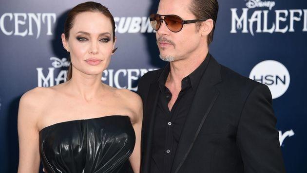 Angelina Jolie und Brad Pitt (Bild: APA/AFP/ROBYN BECK)