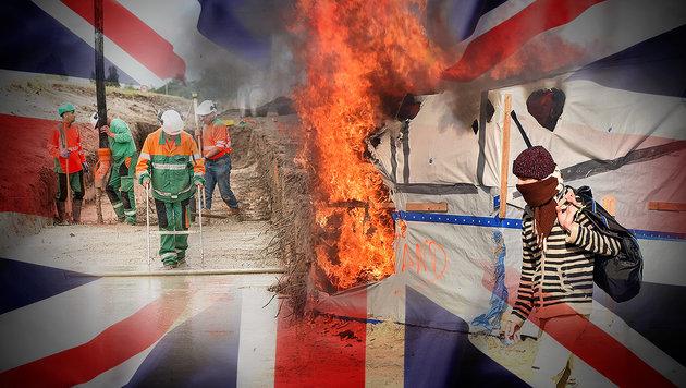 Großbritannien baut Mauer gegen Flüchtlinge (Bild: AFP/Philippe Huguen, thinkstockphotos.de)