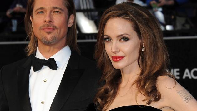 Brad Pitt und Angelina Jolie (Bild: EPA)
