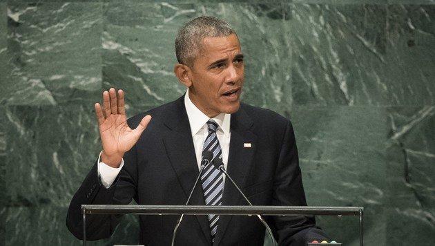 """US-Präsident Obama: """"Wenn wir unsere Türen zuschlagen, verraten wir unsere tiefsten inneren Werte."""" (Bild: APA/AFP/GETTY IMAGES/Drew Angerer)"""