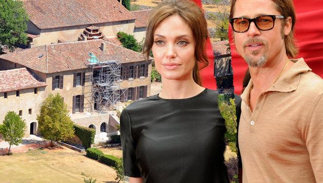 Angelina Jolie und Brad Pitt besitzen zahlreiche Immobilien (Bild: Viennareport)